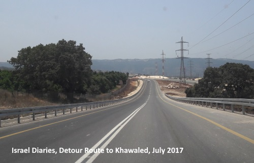 Khawaled, new road built to reach the town