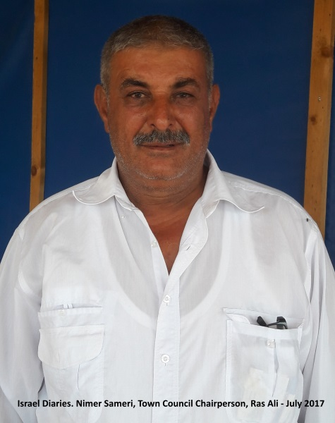 Nimer Samri, head of Ras Ali town committee