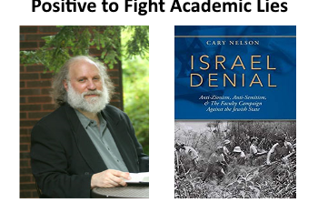 photo of cary nelson and his new book, Israel Denial